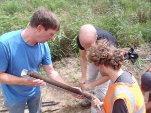 Core sampling with the 'Bohncke boor'